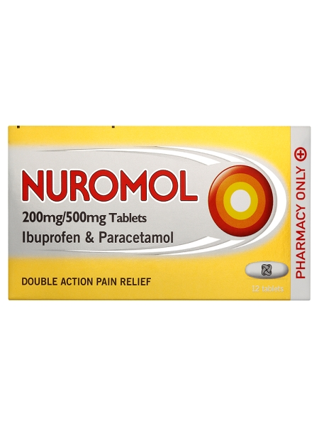 Nuromol 200mg/500mg Tablets 12 Tablets