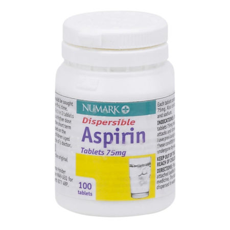 Numark Dispersible Aspirin 75mg Tablets