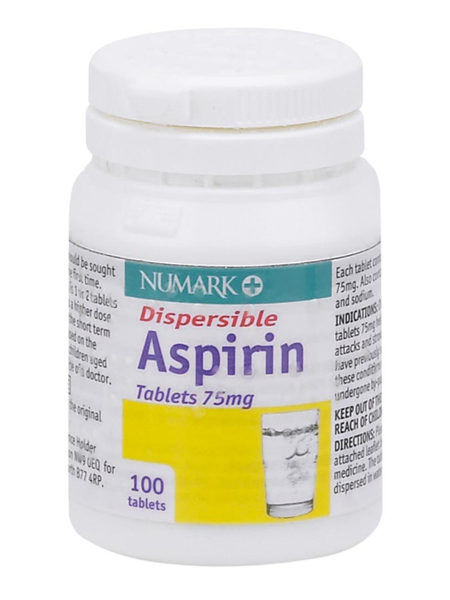 Numark Dispersible Aspirin 75mg Tablets