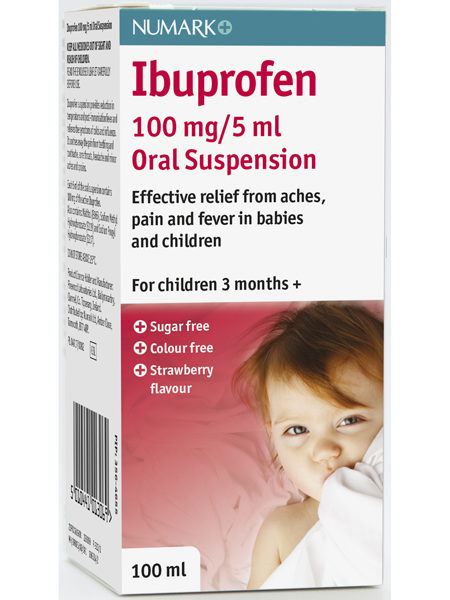 Numark Ibuprofen 100mg/5ml Suspension