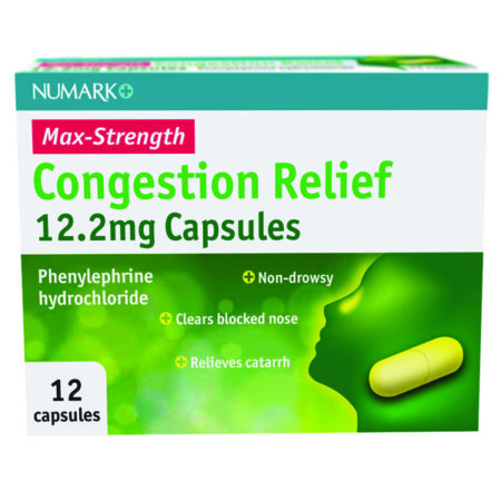 Numark Max Strength Congestion Relief 12.2mg Capsules