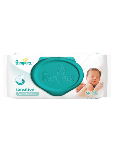 Pampers Baby Wipes Sensitive Single Pack 56 Wipes