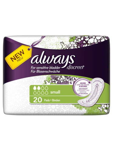 Always Discreet Incontinence Pads Small x 20