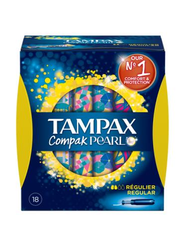 Tampax Compak Pearl Regular Applicator Tampons 18ct