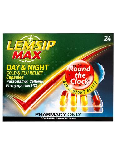 Lemsip Max Day & Night Cold & Flu Relief Capsules 24 Capsules
