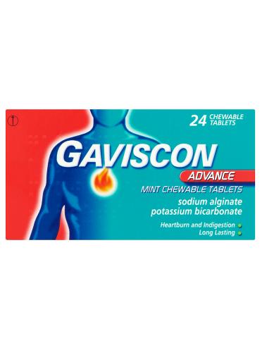 Gaviscon Advance Mint Chewable Tablets 24 Chewable Tablets