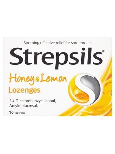 Strepsils Honey & Lemon Lozenges 16 Lozenges