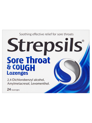 Strepsils Sore Throat & Cough Lozenges 24 Lozenges