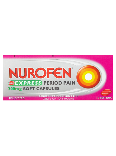 Nurofen Express Period Pain 200mg Soft Capsules 16 Soft Caps