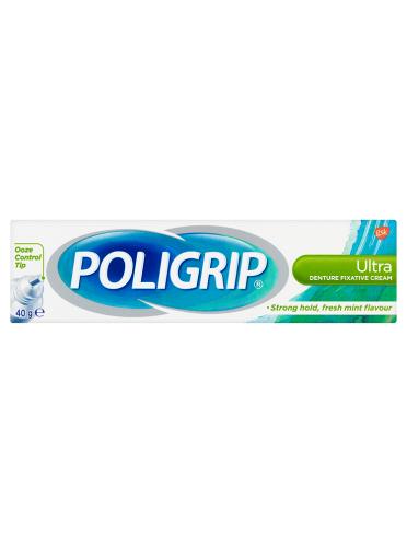 Poligrip Ultra Denture Fixative Cream 40g