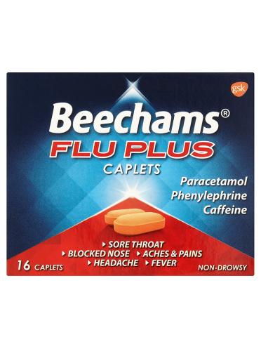 Beechams Flu Plus Caplets 16 Caplets