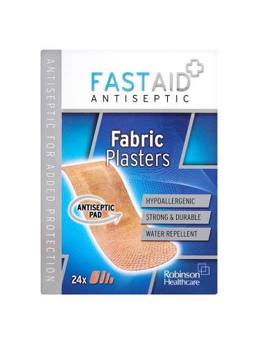 Fast Aid Antiseptic Fabric Plasters x24