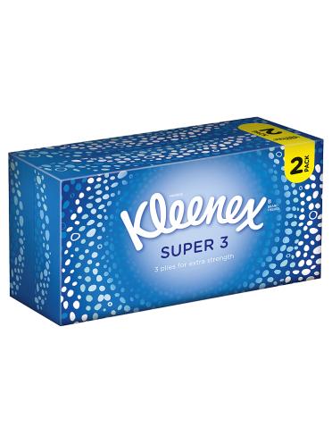 Kleenex Super 3 Tissues Twin Pack