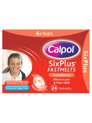 Calpol SixPlus Fastmelts Strawberry Flavour 6+ Years 24 Fastmelts