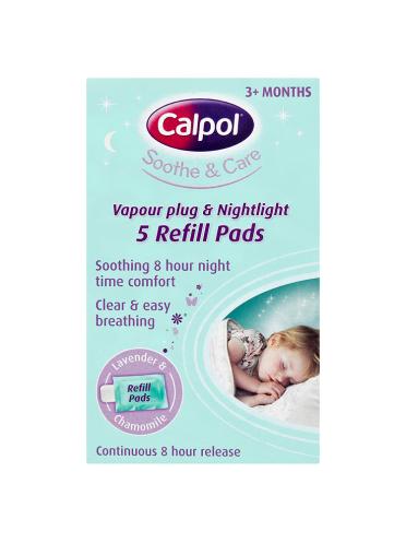 Calpol Soothe & Care Vapour Plug & Nightlight 5 Refill Pads