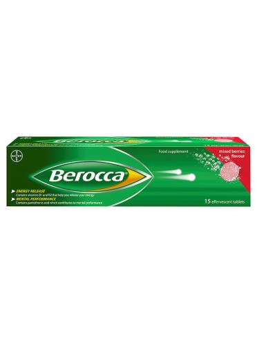Berocca Mixed Berries Flavour 15 Effervescent Tablets