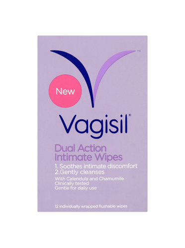 Vagisil Dual Action Intimate Wipes 12 Flushable Wipes