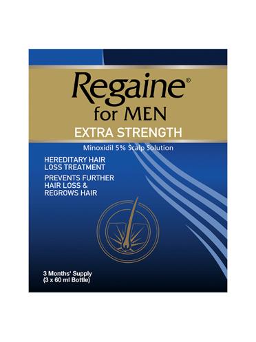 Regaine for Men Extra Strength 3 x 60ml