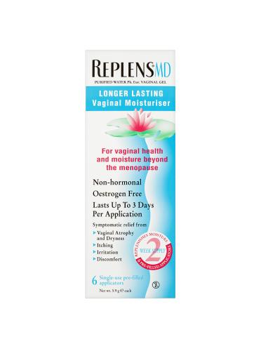 Replens MD Longer Lasting Vaginal Moisturiser 6 x 5.9g