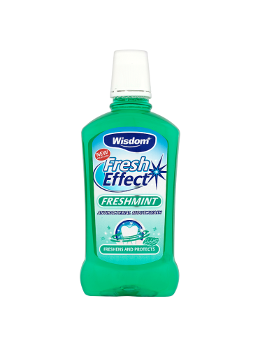 Wisdom Fresh Effect Freshmint Antibacterial Mouthwash 500ml