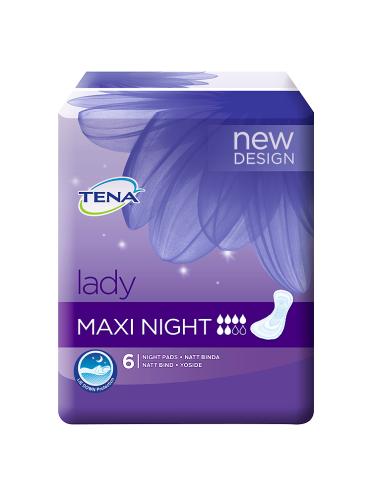 TENA Lady Maxi Night 6 Night Pads