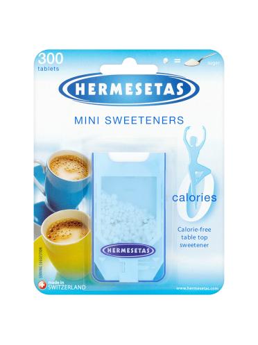 Hermesetas Mini Sweeteners 300 Tablets 4.5g