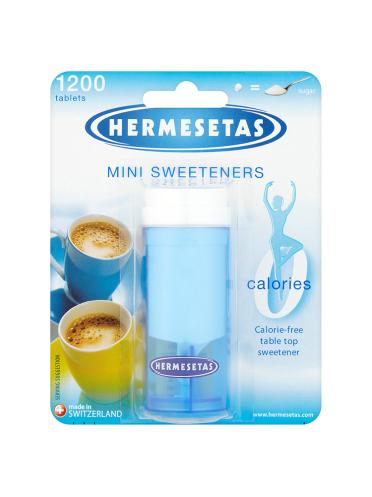 Hermesetas Mini Sweeteners 1200 Tablets 18.0g