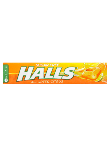 Halls Sugar Free Assorted Citrus 32g