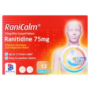 Bristol RaniCalm Ranitidine 75mg Film-Coated Tablets 12 Tablets