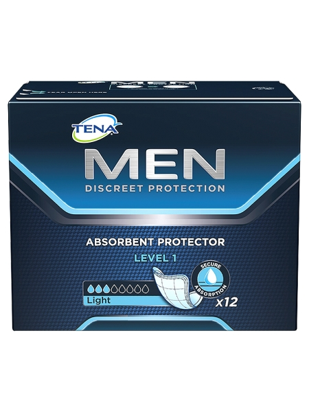 TENA Men Discreet Protection Absorbent Protector Level 1 x 12