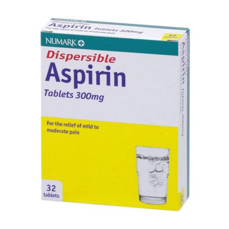 Numark Dispersible Aspirin 300mg Tablets