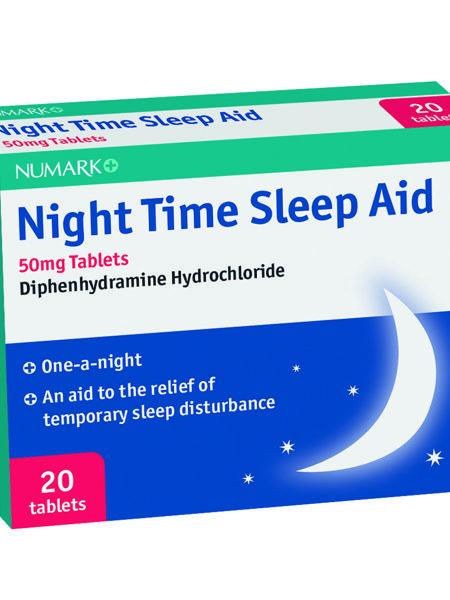 Numark Night Time Sleep Aid 50mg Tablets