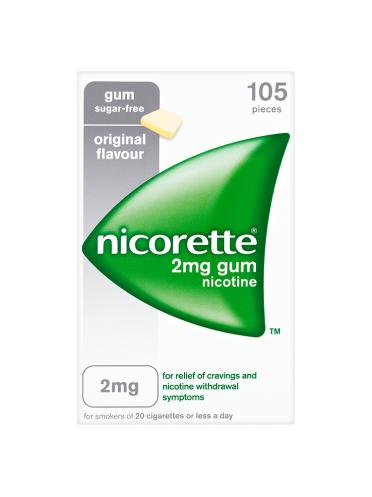 Nicorette 2mg Gum Nicotine 105 Pieces