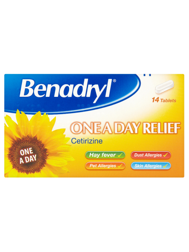 Benadryl One a Day Relief 14 Tablets