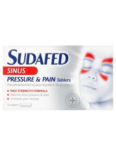 Sudafed Sinus Pressure & Pain Tablets 12 Tablets