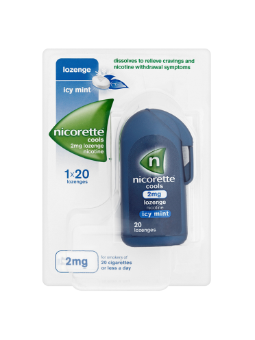 Nicorette Cools Icy Mint 2mg Lozenge Nicotine 20 Lozenges