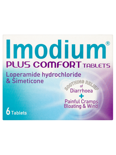 Imodium Plus Comfort Tablets 6 Tablets