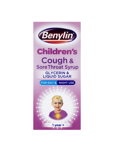 Benylin Children's Cough & Sore Throat Syrup 1 Year+ 125ml