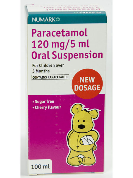 Numark Paracetamol 120mg/5ml Suspension