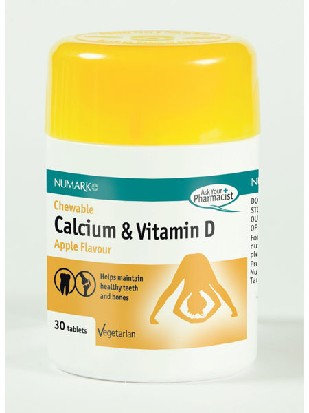 Calcium & Vitamin D Chewable 400mg Tablets