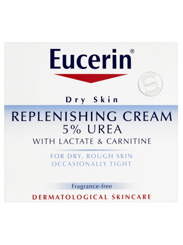Eucerin Dry Skin Replenishing Cream 5% Urea with Lactate & Carnitine 75ml