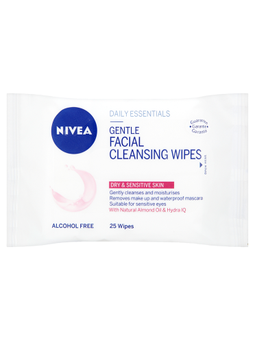 NIVEA Daily Essentials 25 Gentle Facial Cleansing Wipes