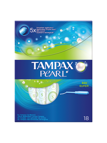 Tampax Pearl Super Applicator Tampons x18