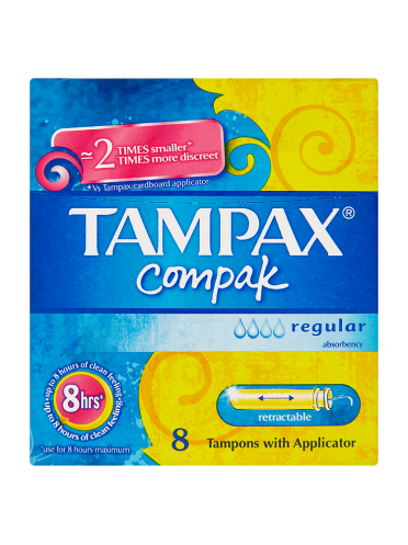 Tampax Compak Regular 8 Tampons with Applicator