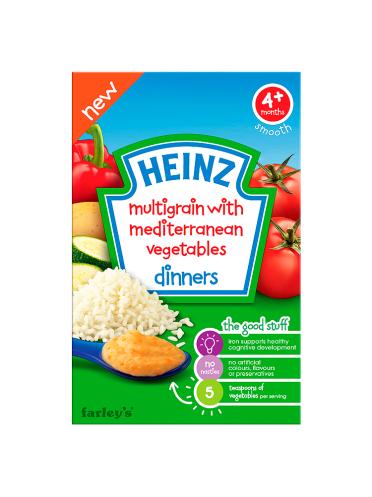 Heinz 4+ Months Multigrain with Mediterranean Vegetables Dinners 125g