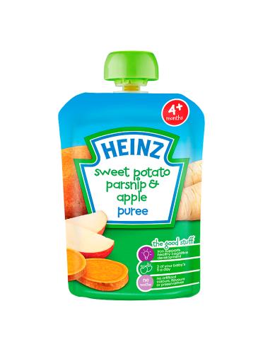 Heinz 4+ Months Sweet Potato Parsnip & Apple Puree 100g
