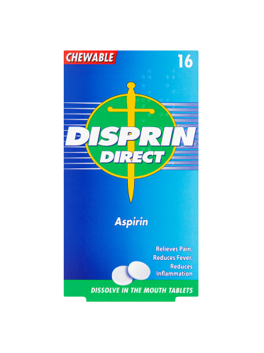 Disprin Direct Aspirin 16 Chewable Tablets