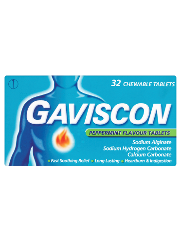 Gaviscon Peppermint Flavour Tablets 32 Chewable Tablets