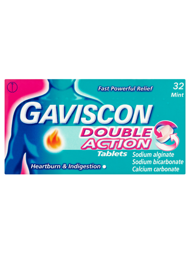 Gaviscon Double Action Tablets Mint 32 Chewable Tablets
