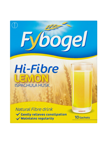 Fybogel Hi-Fibre Lemon Natural Fibre Drink 10 Sachets